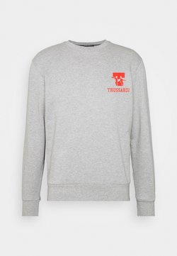 Trussardi - PURE BRUSHED - Sweater - mottled grey/red