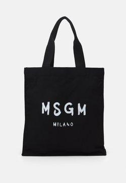 MSGM - SHOPPING PAINT BRUSHED LOGO - Tote bag - black