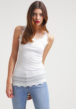 Rosemunde - SILK TOP MEDIUM W/WIDE LACE - Top - new white