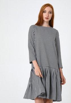 Madam-T - OTTILIANA - Freizeitkleid - weiß schwarz