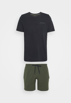 Marc O'Polo - LOUNGESET CREW NECK - Pyjama - khaki