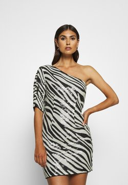 Guess - FLORENCE DRESS - Vestito elegante - black/white