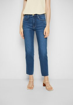 Frame Denim - LE SYLVIE CROP RAW AFTER - Slim fit jeans - decades blue