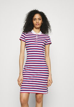 Tommy Hilfiger - STRIPE SLIM DRESS - Day dress - red/blue