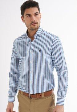 Jimmy Sanders - RENDO GESTREIFTES MUSTER - Hemd - blau