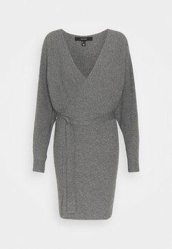Vero Moda - VMREM VNECK  - Jumper dress - medium grey melange