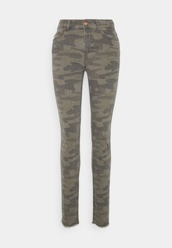 ONLY Tall - ONLBLUSH LIFE CAMO - Jeans Skinny Fit - deep lichen green/grape lea