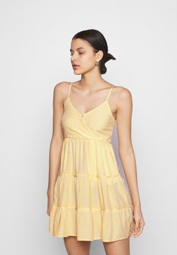 Hollister Co. - BARE FEMME SHORT DRESS - Freizeitkleid - yellow