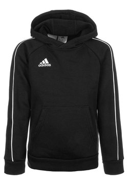 adidas Performance - CORE - Bluza z kapturem - black/white