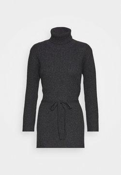 pure cashmere - LONG TURTLENECK - Strickpullover - graphite