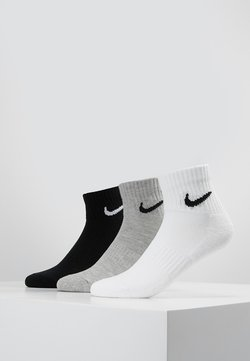 Nike Performance - EVERYDAY CUSH 3 PACK - Sportsocken - white black/dark grey heather black/black white