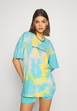 Missguided - COORD AND CYCLE TIE DYE SET - Shortsit - blue