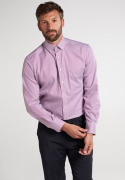 Eterna - MODERN FIT - Businesshemd - aubergine/weiss