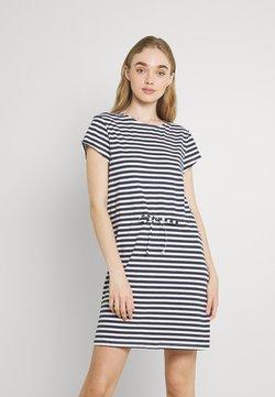 Vila - VIMOONEY STRING DRESS - Jerseykleid - navy blazer/white