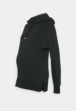GAP Maternity - NURSING HOODIE - Luvtröja - washed black