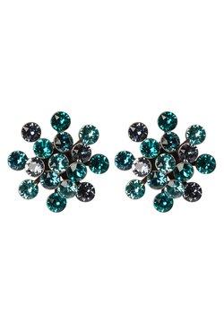 Konplott - MAGIC FIREBALL - Earrings - blue/green antique/silver-coloured