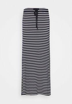 Vila - VIDINA SKIRT - Maxirock - navy blazer/white