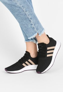 adidas Originals - SWIFT RUN - Sneakers laag - core black/ash pearl/white