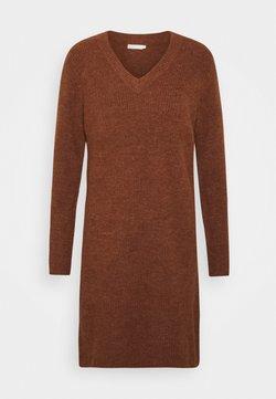 Pieces - PCELLEN V NECK DRESS - Jumper dress - mocha bisque