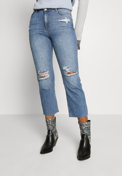 Miss Selfridge - WEB STRAIGHT LEG - Straight leg jeans - mid blue