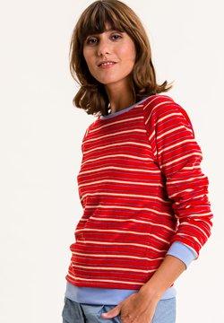UVR Berlin - Sweatshirt - rot mit bunten streifen