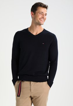 Tommy Hilfiger - V-NECK  - Strickpullover - sky captain