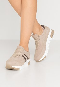Tamaris - LACE UP - Trainers - taupe/light bronc