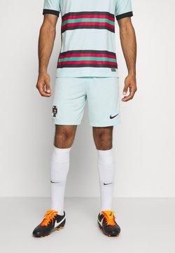 Nike Performance - PORTUGAL FPF SHORT AWAY - Pantalón corto de deporte - teal tint/black