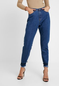 Missguided Tall - WRATH MID RISE CLEAN CUT HEM - Relaxed fit jeans - blue