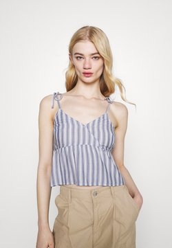 Hollister Co. - Top - blue/white
