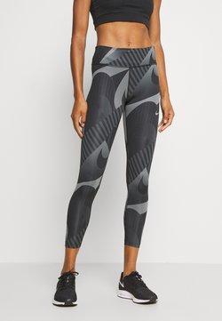 Nike Performance - FAST 7/8 RUNWAY - Tights - black/black/reflective silver
