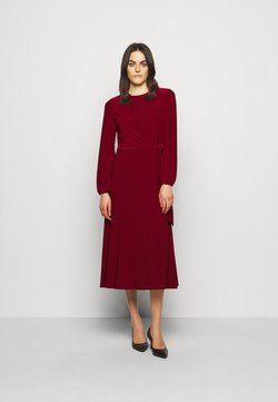 Lauren Ralph Lauren - MID WEIGHT DRESS - Vestido ligero - romantic garnet