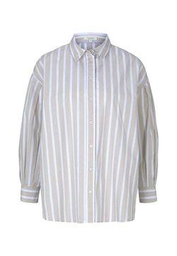 mine to five TOM TAILOR - Hemdbluse - sand offwhite stripe