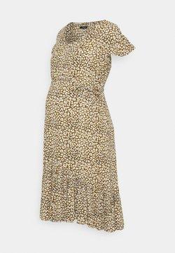 Supermom - DRESS LEOPARD - Freizeitkleid - dull gold