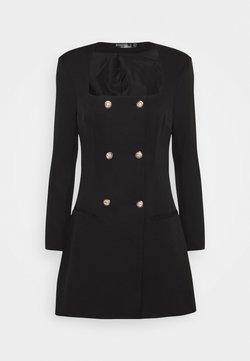 Missguided - SQUARE NECK MILITARY TAILORED DRESS - Vestido camisero - black