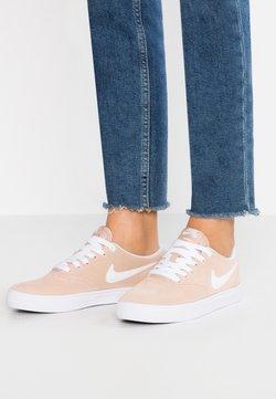 Nike SB - CHECK SOLAR - Sneaker low - beige/white