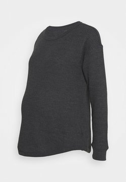 GAP Maternity - WAFFLE CREW - Jersey de punto - moonless night
