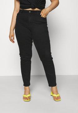 Pieces Curve - PCKESIA MOM  - Jean slim - black denim