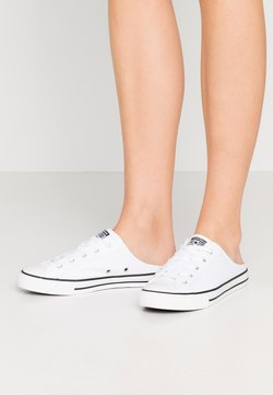 Converse - CHUCK TAYLOR ALL STAR DAINTY MULE - Baskets basses - white/black