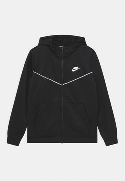 Nike Sportswear - REPEAT HOODIE - Veste de survêtement - black/white