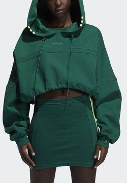 adidas Originals - Ivy Park Hooded Cut Out Dress - Korte jurk - darkgreen