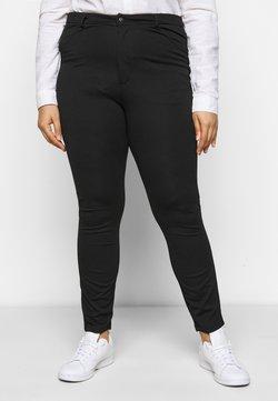 Even&Odd Curvy - HIGH WAIST 5 pockets PUNTO trousers - Leggingsit - black