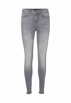 Vero Moda - SKINNY FIT JEANS VMHANNA - Slim fit jeans - light grey denim