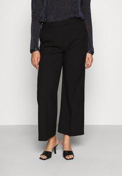 CAPSULE by Simply Be - ESSENTIAL WIDE LEG TROUSER - Pantalon classique - black