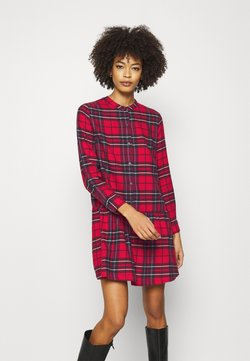 GAP - DRESS PLAID - Blusenkleid - red