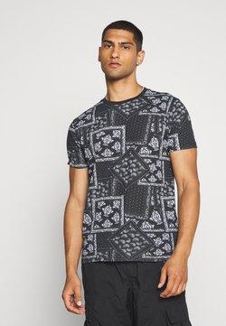 Brave Soul - ESCHER - Camiseta estampada - jet black/optic white