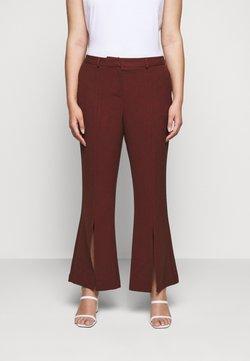 CAPSULE by Simply Be - TROUSERS - Spodnie materiałowe - rust