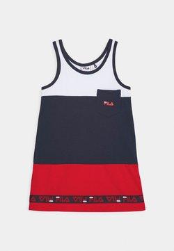 Fila - DORY TAPED TEE DRESS - Jerseykleid - black iris/true red/bright white