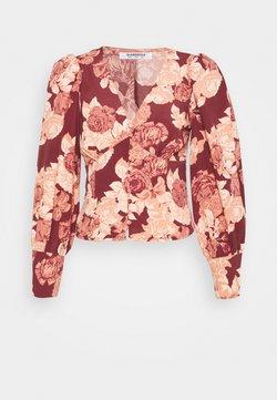 Glamorous - Bluse - brown apricot rose