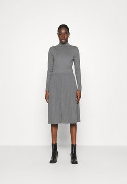 Calvin Klein - FLARE DRESS - Neulemekko - mid grey heather